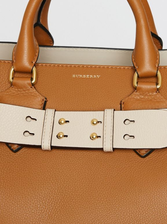 The Medium Belt Bag Grainy Leather Belt in Limestone - Women | Burberry - cell image 1