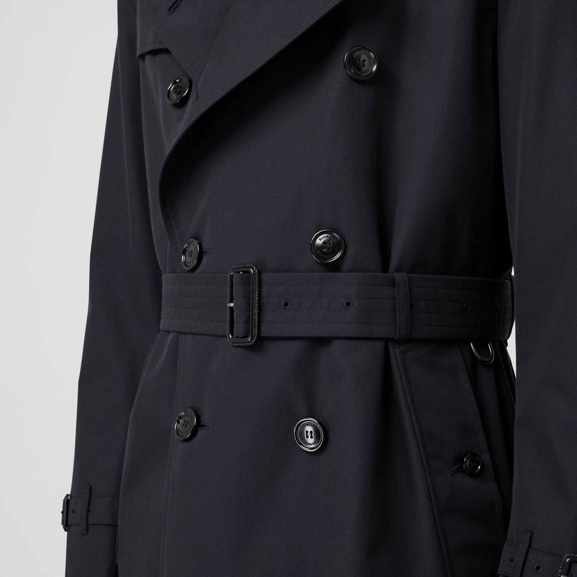 Cotton Gabardine Trench Coat in Midnight - Men | Burberry - gallery image 4
