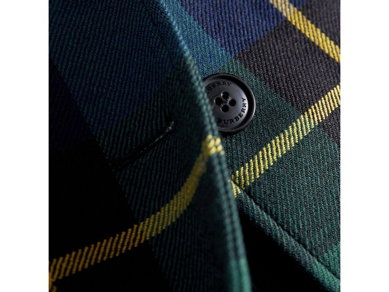 Tartan Wool Coat in Pine Green | Burberry - cell image 1