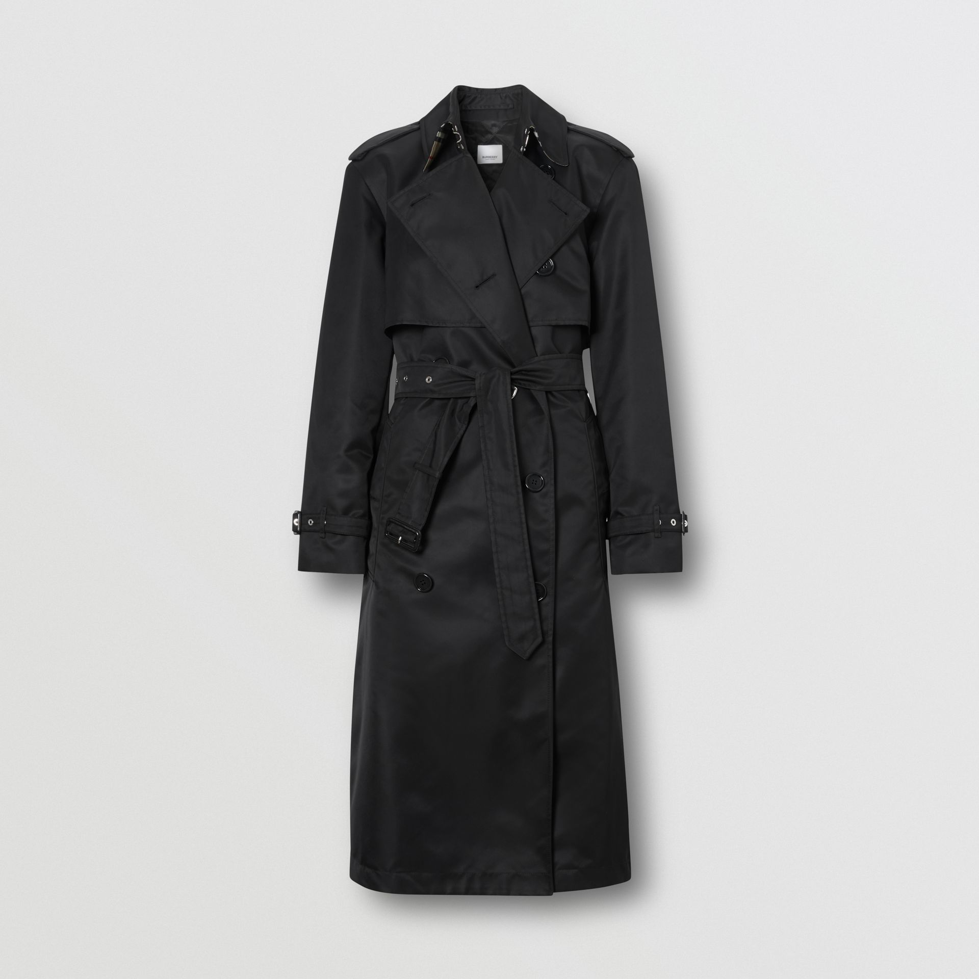 Nylon Twill Trench Coat in Black - Women | Burberry Australia - gallery image 3