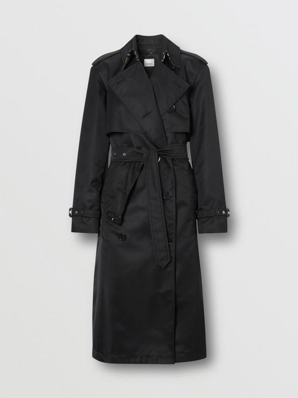 Nylon Twill Trench Coat in Black - Women | Burberry Australia - cell image 3