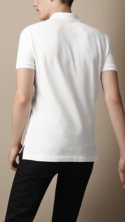 Blanc Polo en jersey de coton double teinte - Image 2