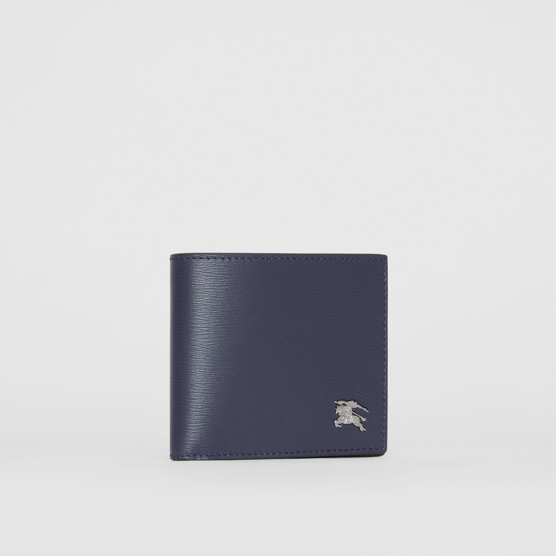London Leather International Bifold Wallet in Navy - Men | Burberry Hong Kong - gallery image 3