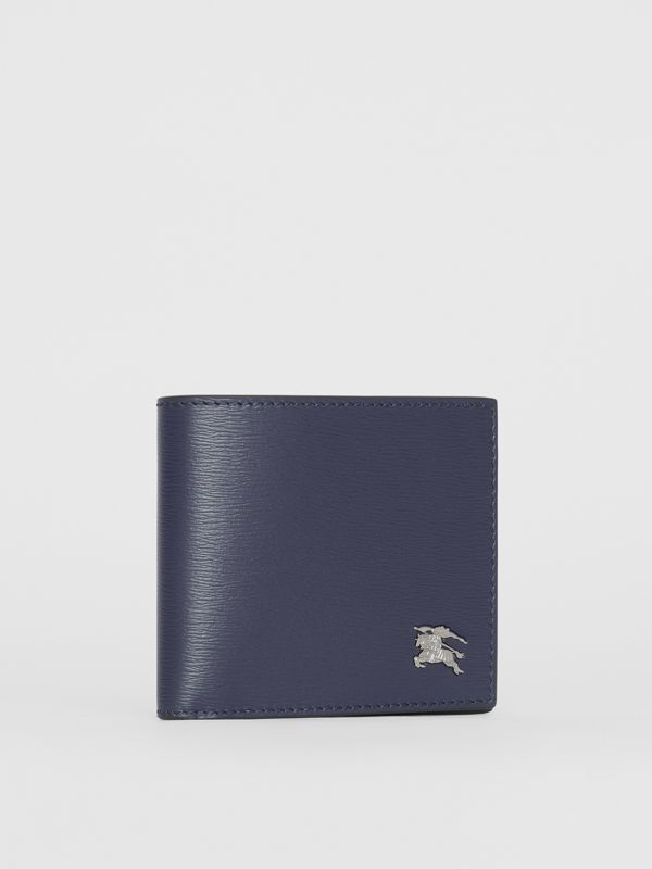 London Leather International Bifold Wallet in Navy - Men | Burberry Hong Kong - cell image 3