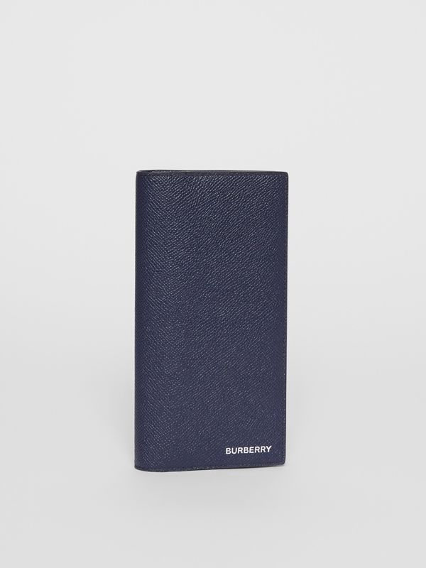 Grainy Leather Continental Wallet in Regency Blue - Men | Burberry United Kingdom - cell image 3