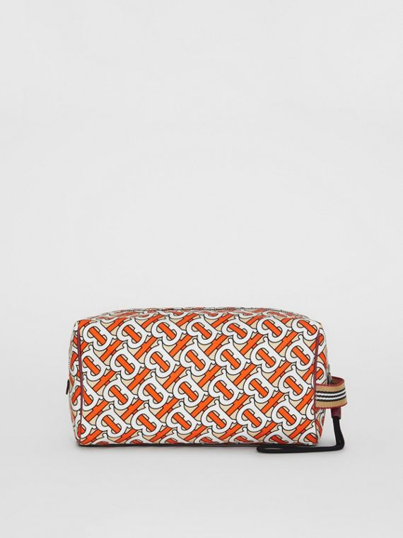 Bolsa pouch com estampa de monograma (Vermilion)