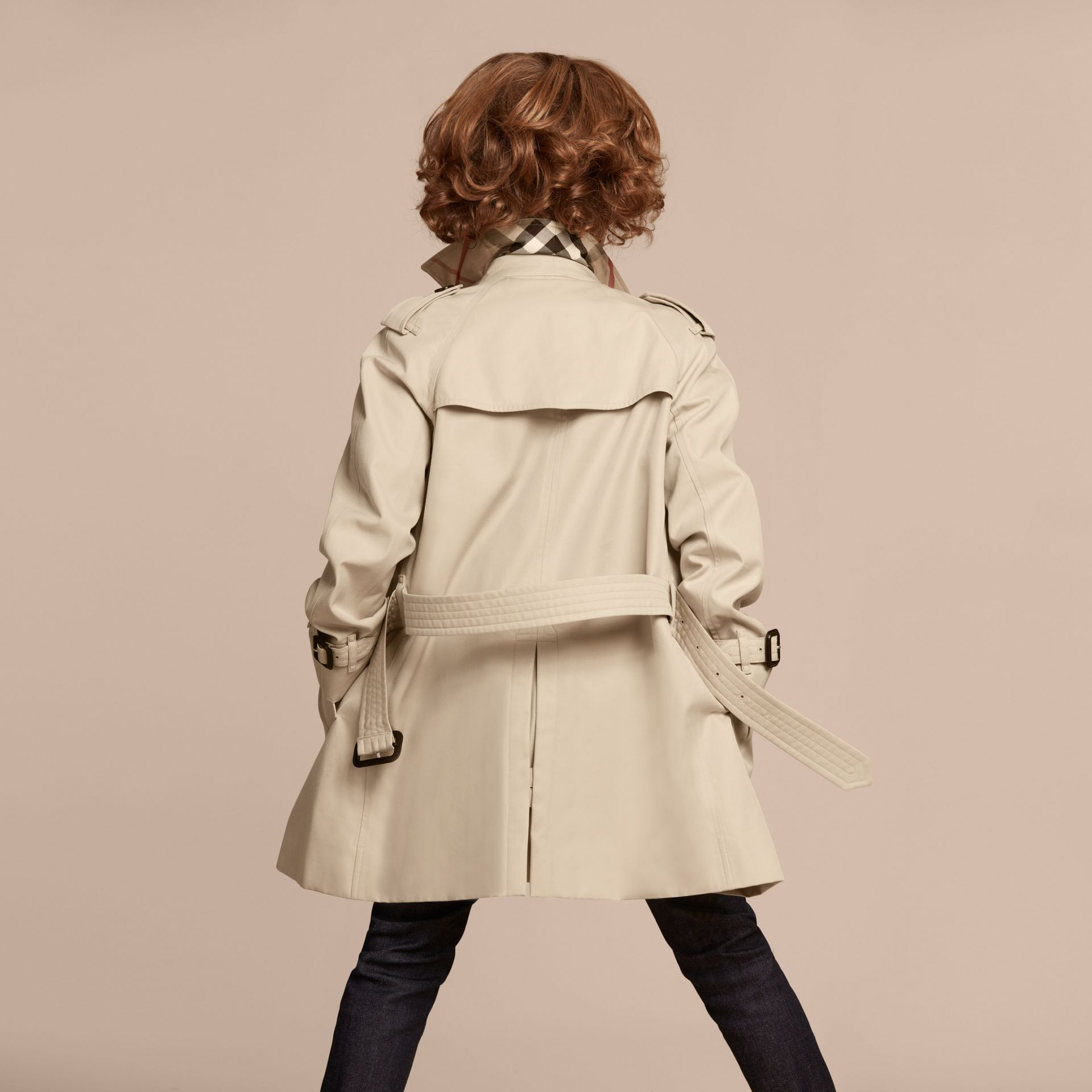 The Wiltshire – Heritage Trench Coat in Stone - Boy | Burberry Canada - gallery image 4