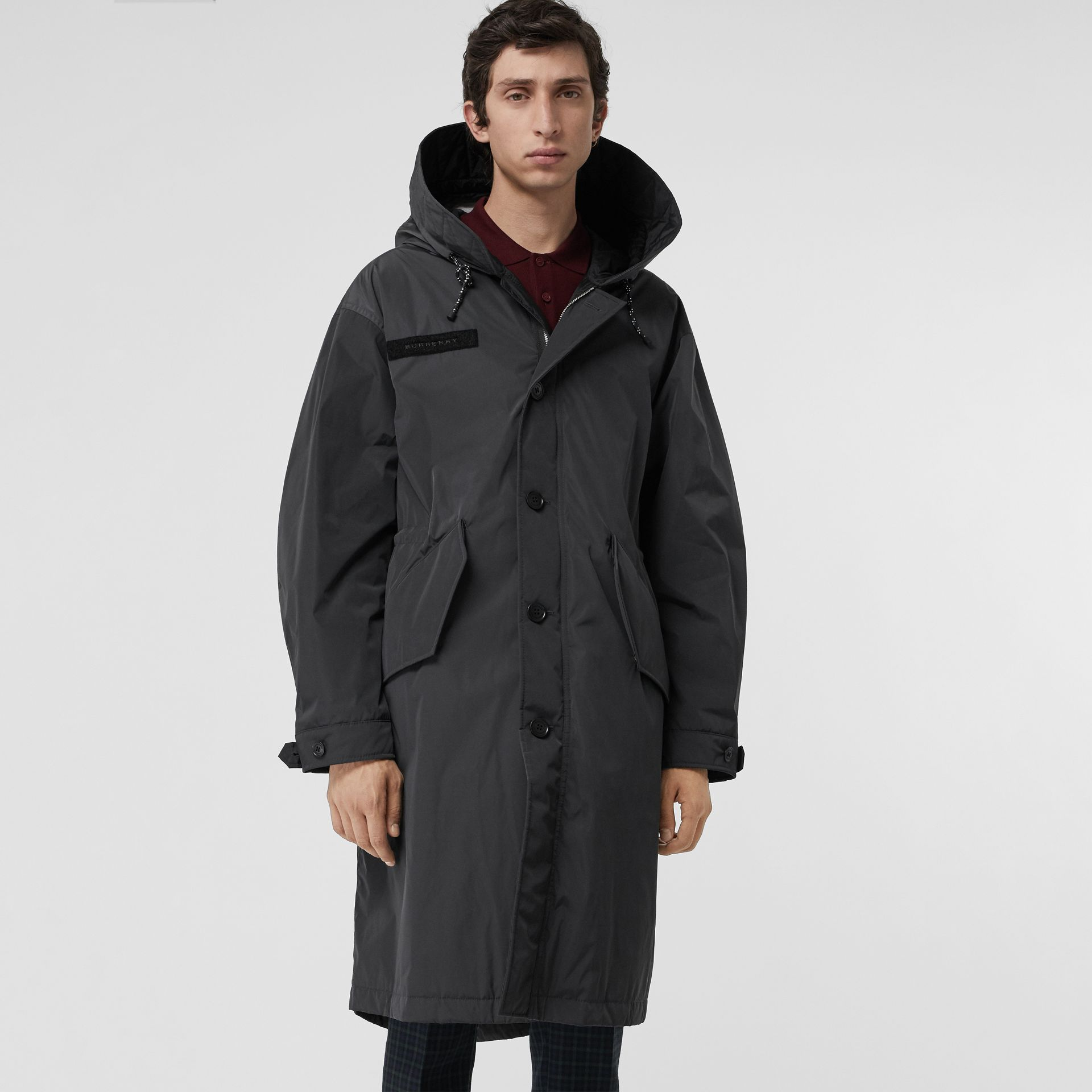Quilt-lined Technical Nylon Parka in Dark Charcoal - Men | Burberry Australia - gallery image 5