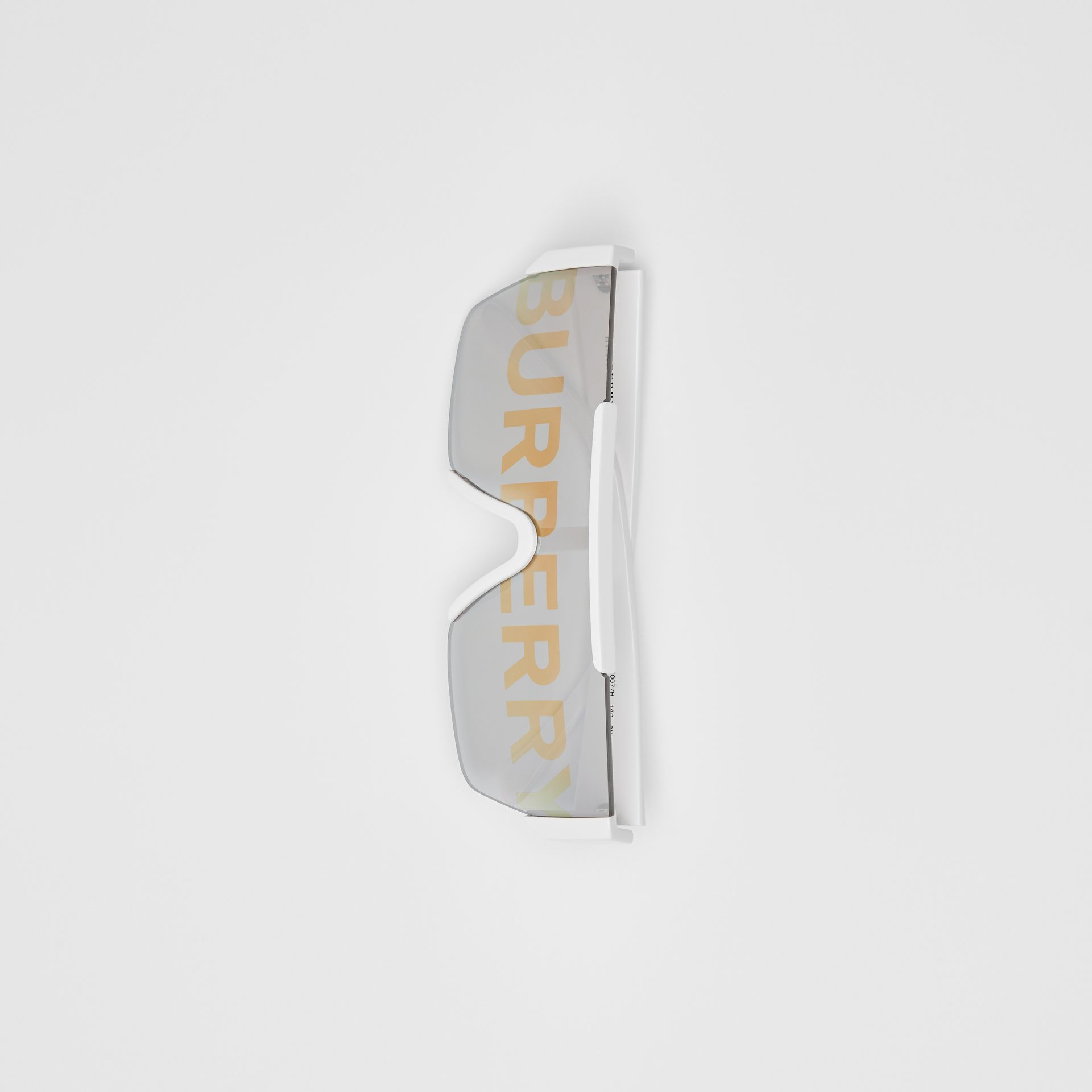 Logo Lens D-frame Sunglasses in White | Burberry United Kingdom - gallery image 3