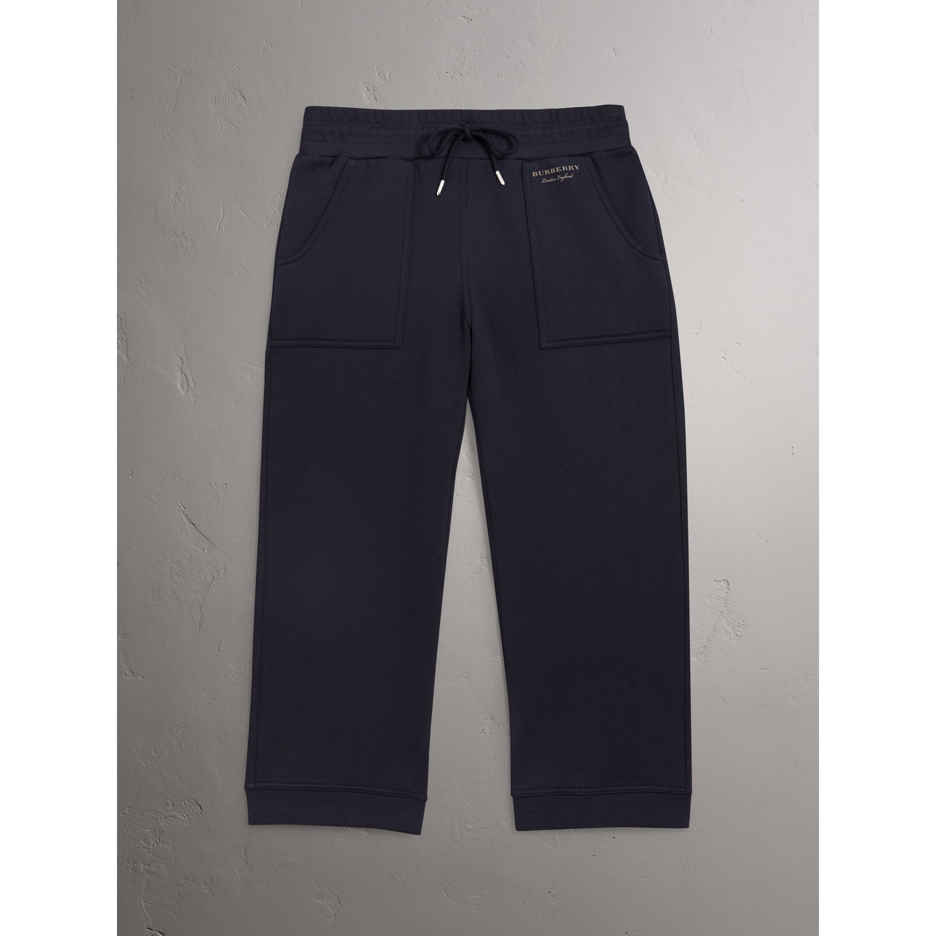 Pantalon de survêtement 7/8 en jersey (Marine) - Femme | Burberry - photo de la galerie 4