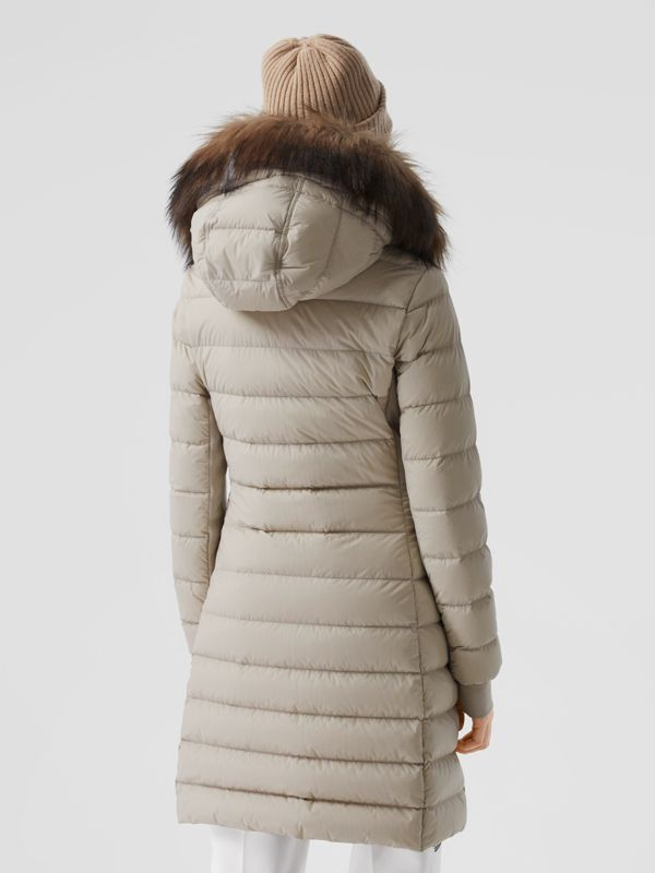 Detachable Faux Fur Trim Hooded Puffer Coat in Neutral Olive - Women | Burberry United Kingdom - cell image 2