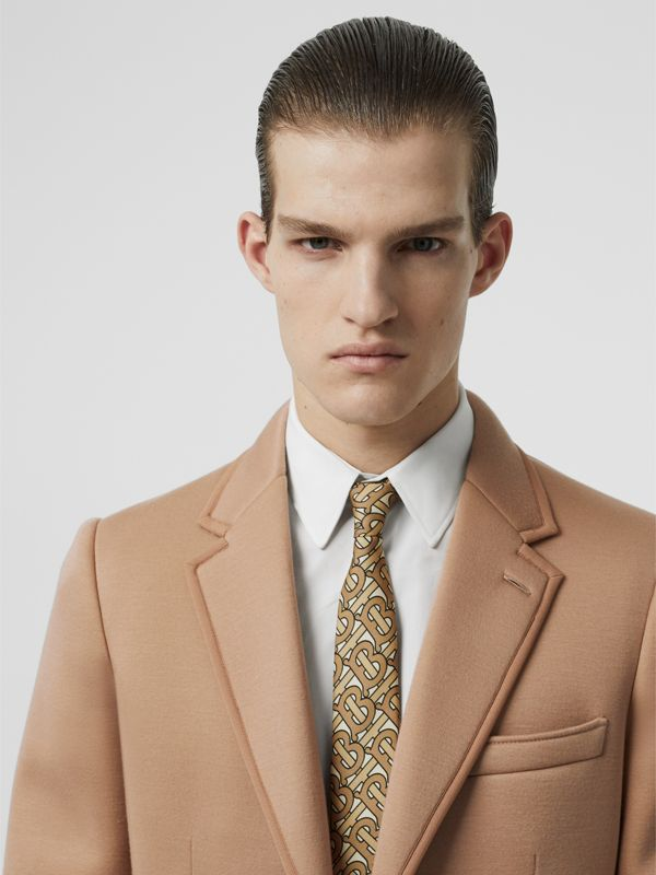Classic Cut Monogram Print Silk Tie in Honey - Men | Burberry Canada - cell image 2