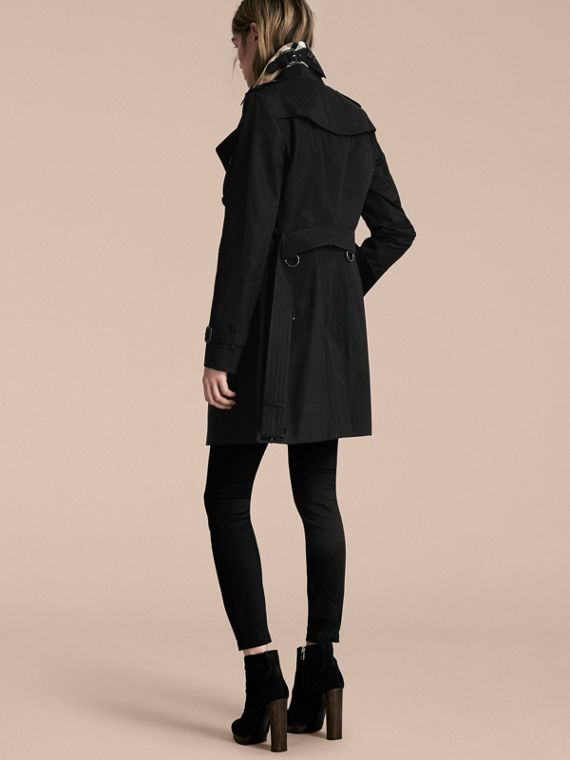 Black The Sandringham – Mid-Length Heritage Trench Coat Black - cell image 2