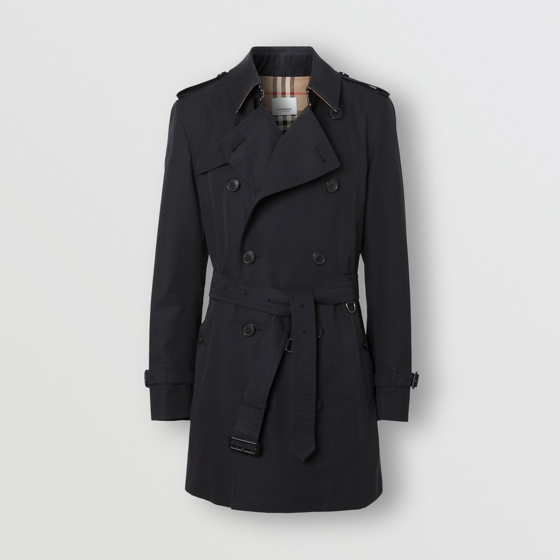 The Short Wimbledon Trench Coat in Midnight Navy - Men | Burberry - gallery image 3