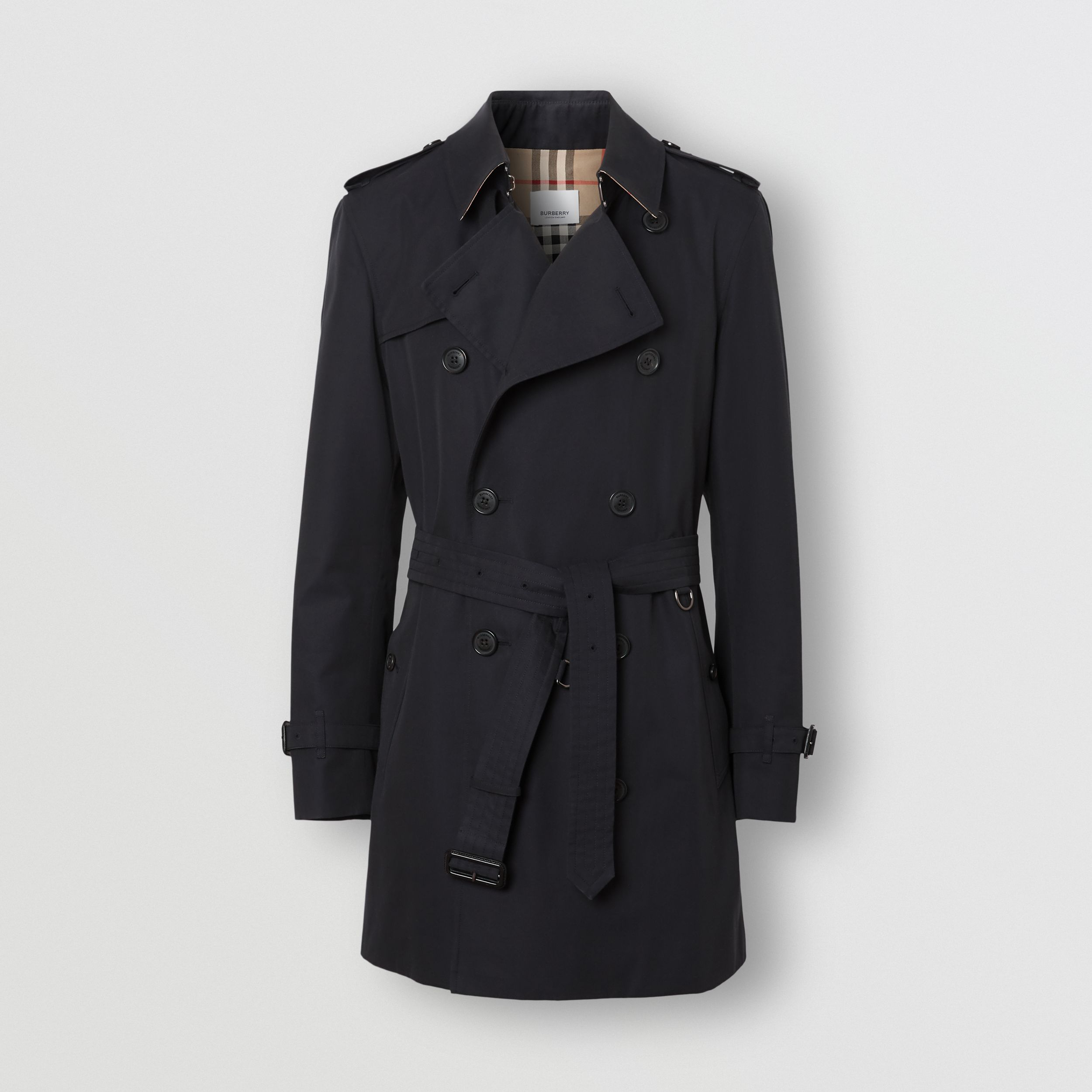 The Short Wimbledon Trench Coat in Midnight Navy - Men | Burberry - 4