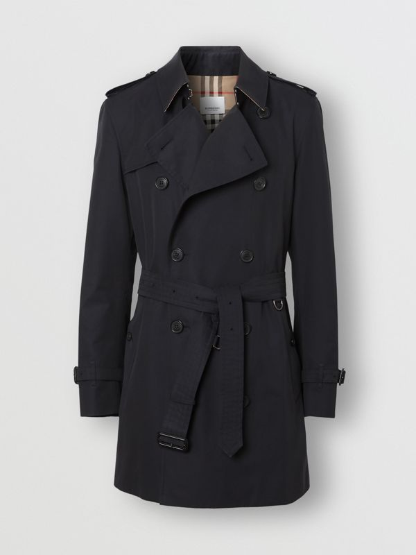 Cotton Gabardine Trench Coat in Midnight Navy - Men | Burberry Australia - cell image 2