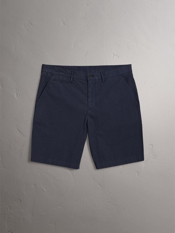 Cotton Poplin Chino Shorts in Indigo - Men | Burberry Singapore - cell image 3