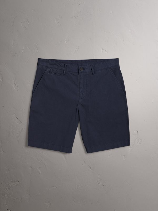 Cotton Poplin Chino Shorts in Indigo - Men | Burberry Australia - cell image 3