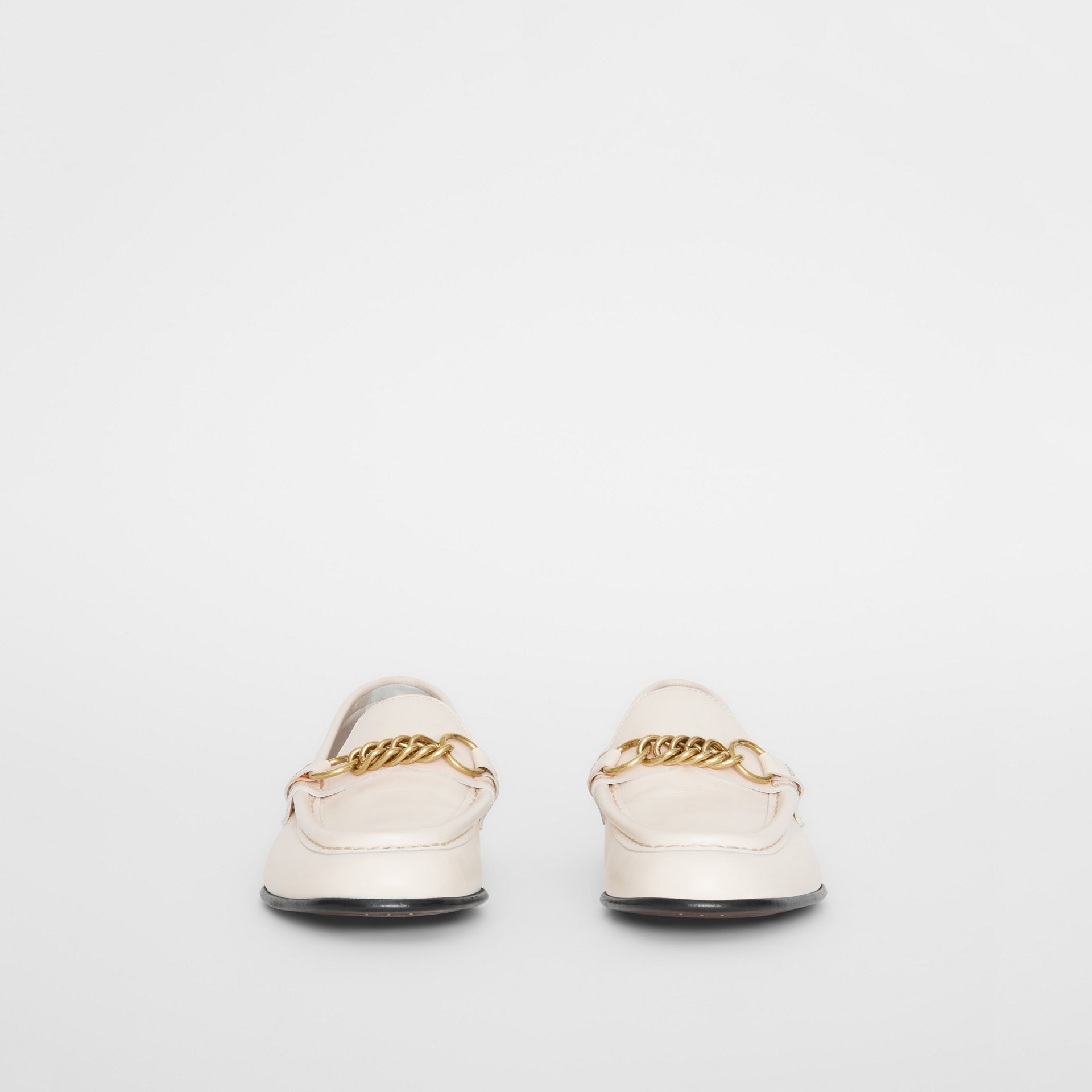 The Leather Link Loafer in Ash White - Women | Burberry - gallery image 3