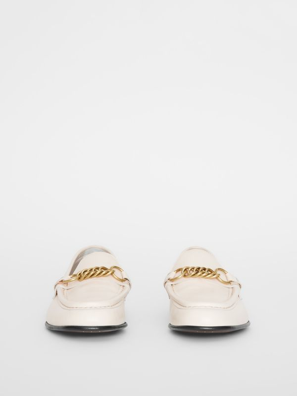 The Leather Link Loafer in Ash White - Women | Burberry - cell image 3