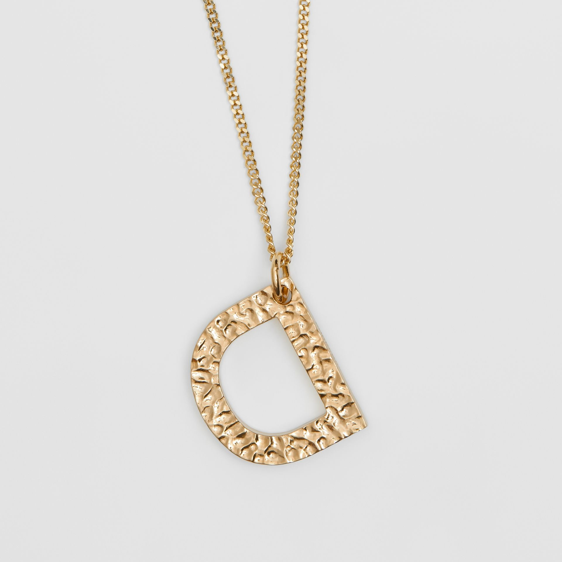 'D' Alphabet Charm Gold-plated Necklace in Light - Women | Burberry United Kingdom - gallery image 2