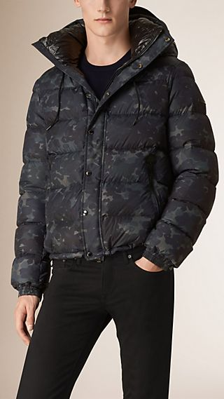Camouflage Print Down-filled Jacket