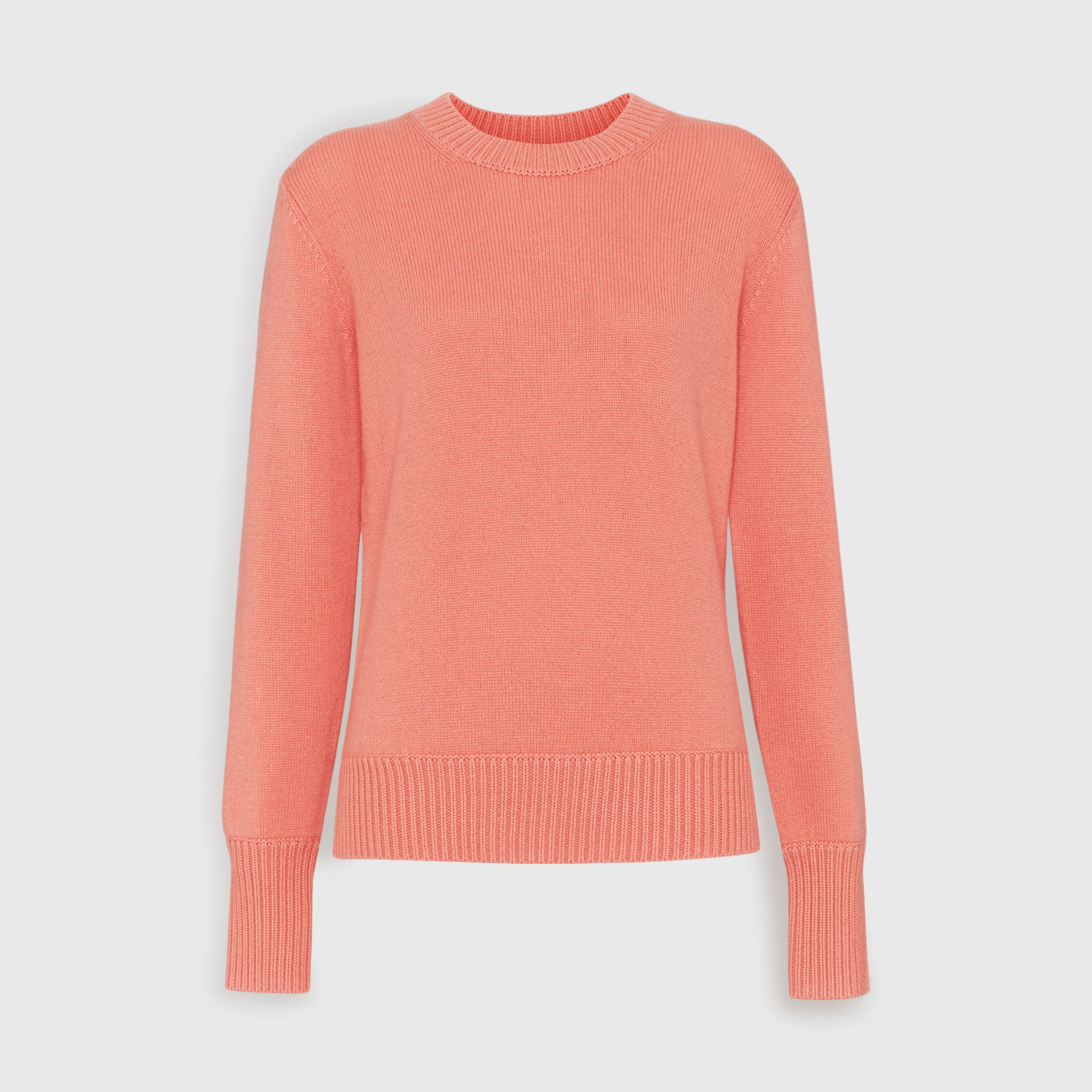 Archive Logo Appliqué Cashmere Sweater in Bright Coral Pink - Women | Burberry Singapore - gallery image 3