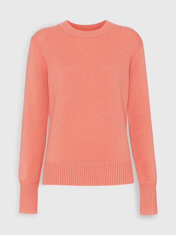 Archive Logo Appliqué Cashmere Sweater in Bright Coral Pink - Women | Burberry - cell image 3