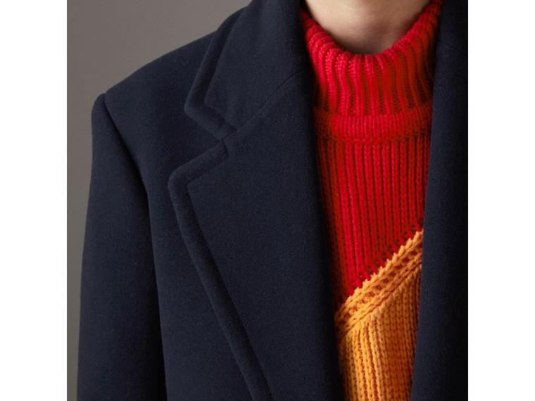 羊毛喀什米爾大衣 (暗藍色) | Burberry - cell image 1