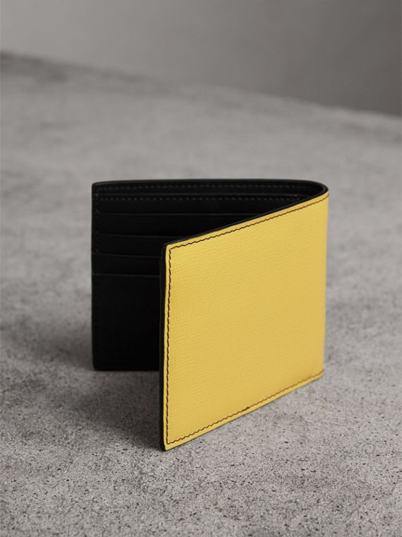 Creature Appliqué Leather International Bifold Wallet in Ochre Yellow - Men | Burberry United Kingdom - cell image 2