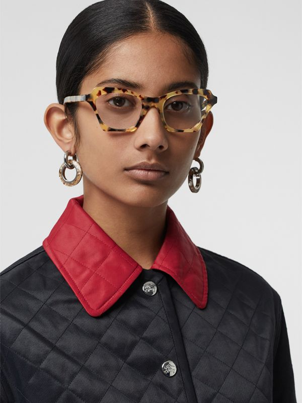 Butterfly Optical Frames in Tortoise Shell - Women | Burberry - cell image 2