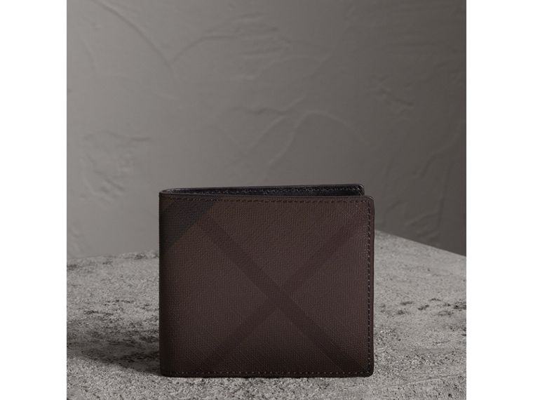 London Check International Bifold Wallet in Chocolate/black - Men | Burberry - cell image 4