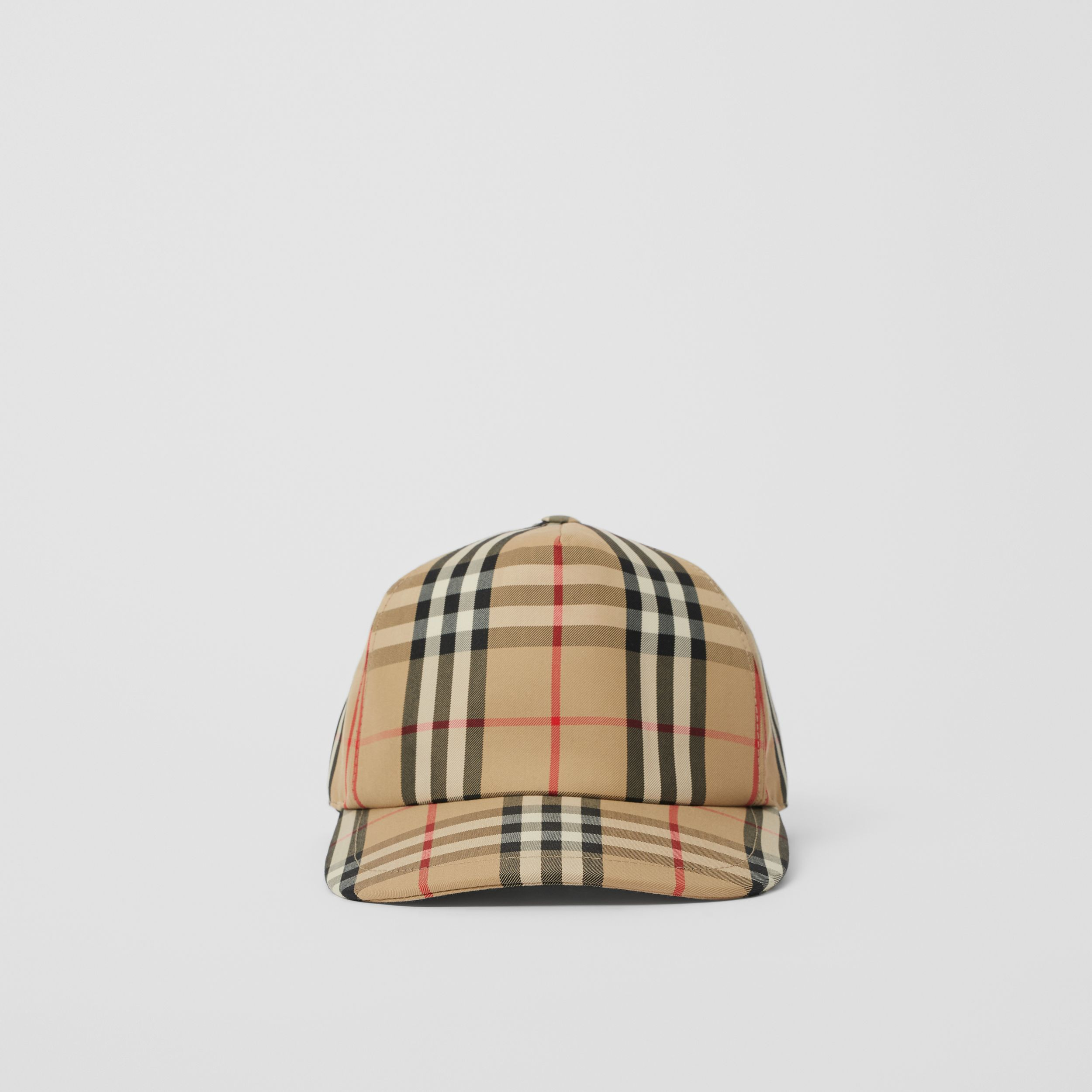 Logo Detail Vintage Check Baseball Cap in Archive Beige | Burberry - 3