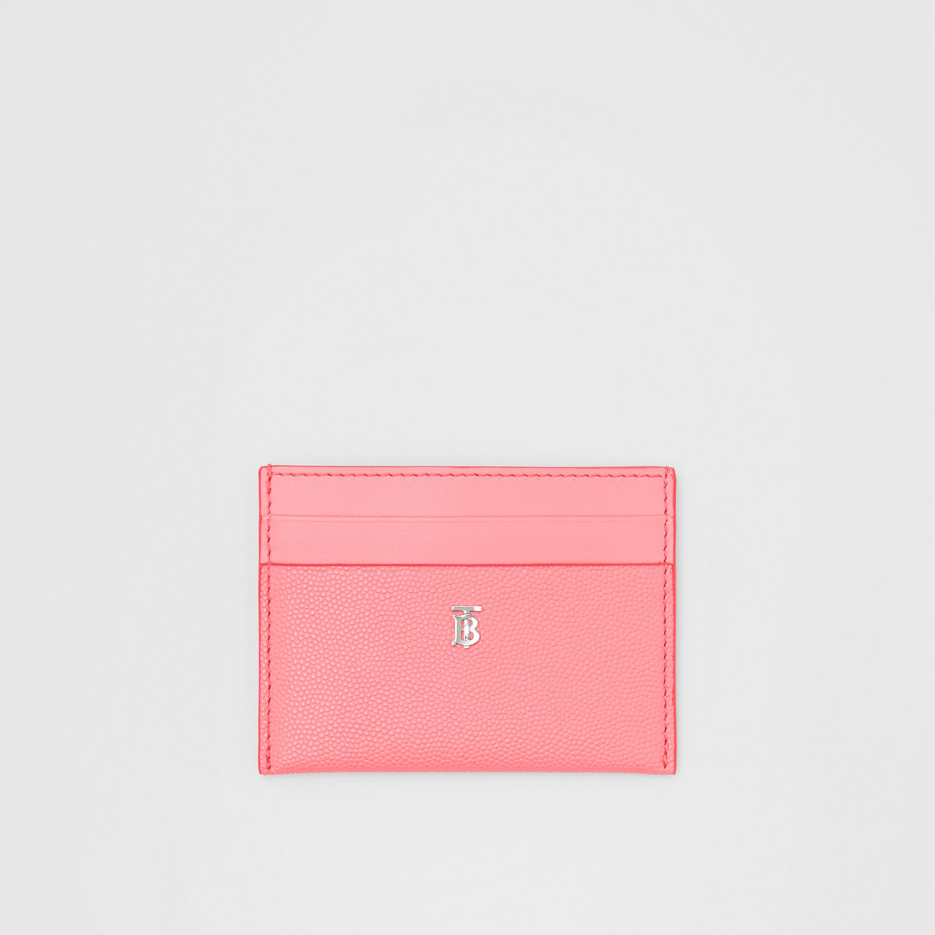 Monogram Motif Leather Card Case in Candy Floss/palladio - Women | Burberry Hong Kong S.A.R - gallery image 0
