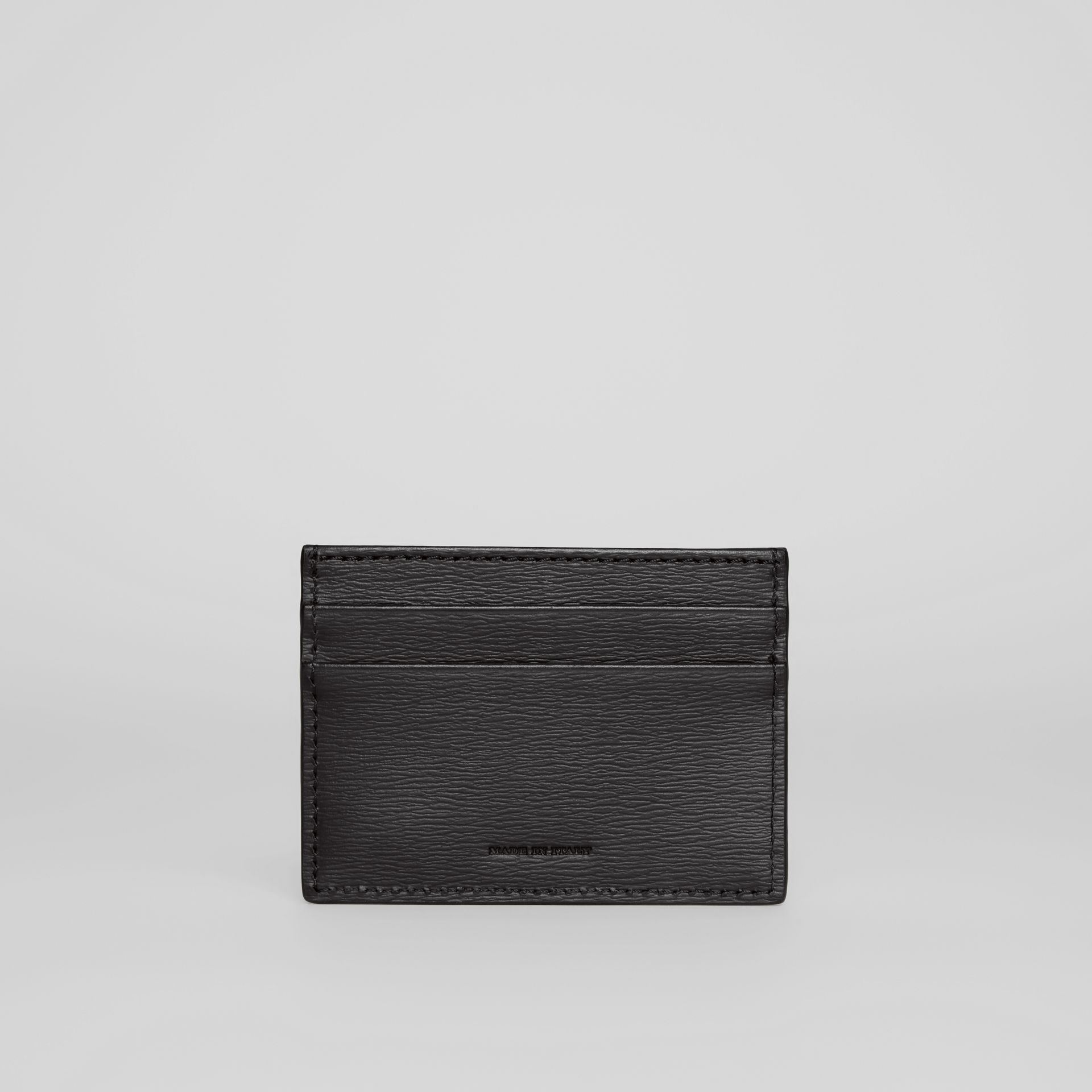 London Leather Card Case in Black - Men | Burberry - gallery image 4