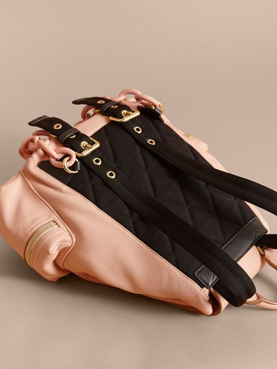 The Medium Rucksack in Deerskin with Resin Chain in Pale Apricot - Women | Burberry - cell image 3