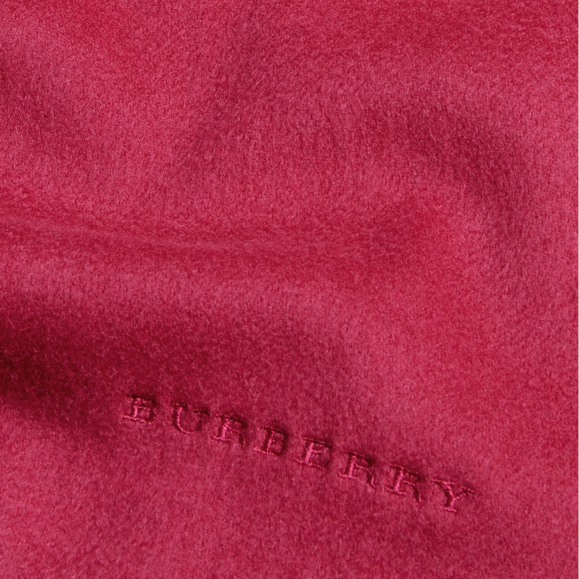 Fuchsia pink The Mini Classic Cashmere Scarf - gallery image 4