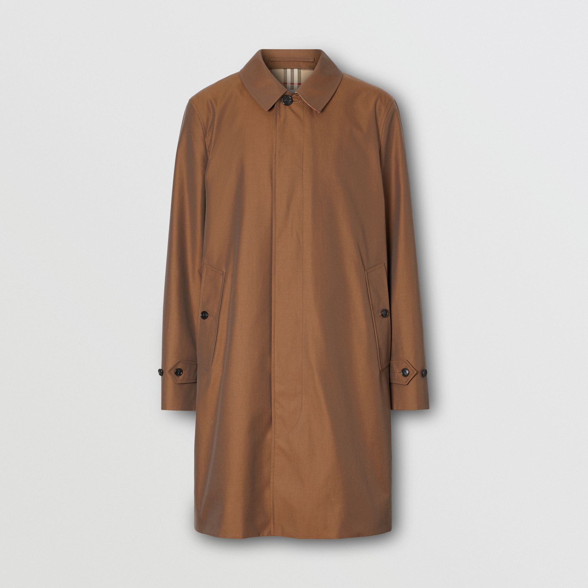 The Pimlico Heritage Car Coat in Amber Brown - Men | Burberry Canada - gallery image 3