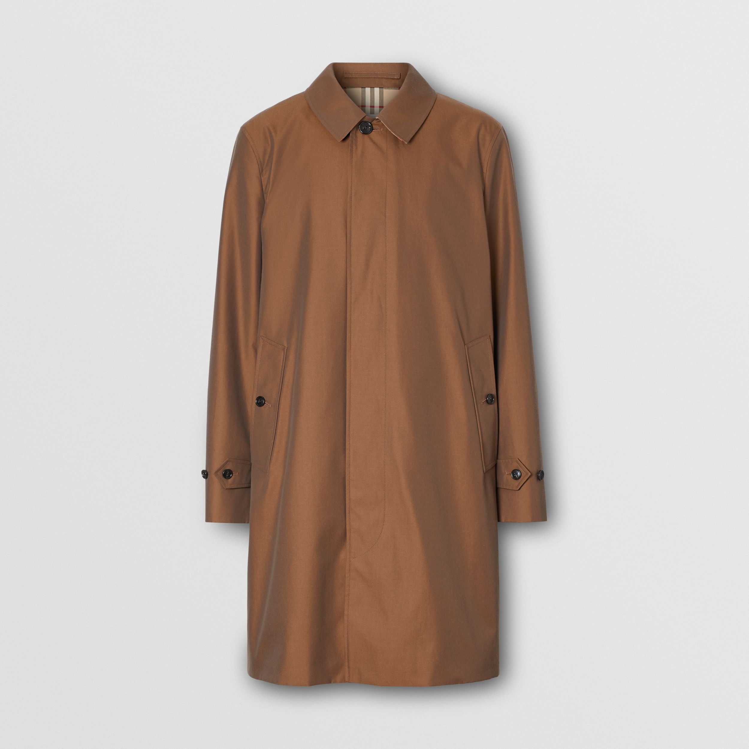 The Pimlico Heritage Car Coat in Amber Brown - Men | Burberry - 4