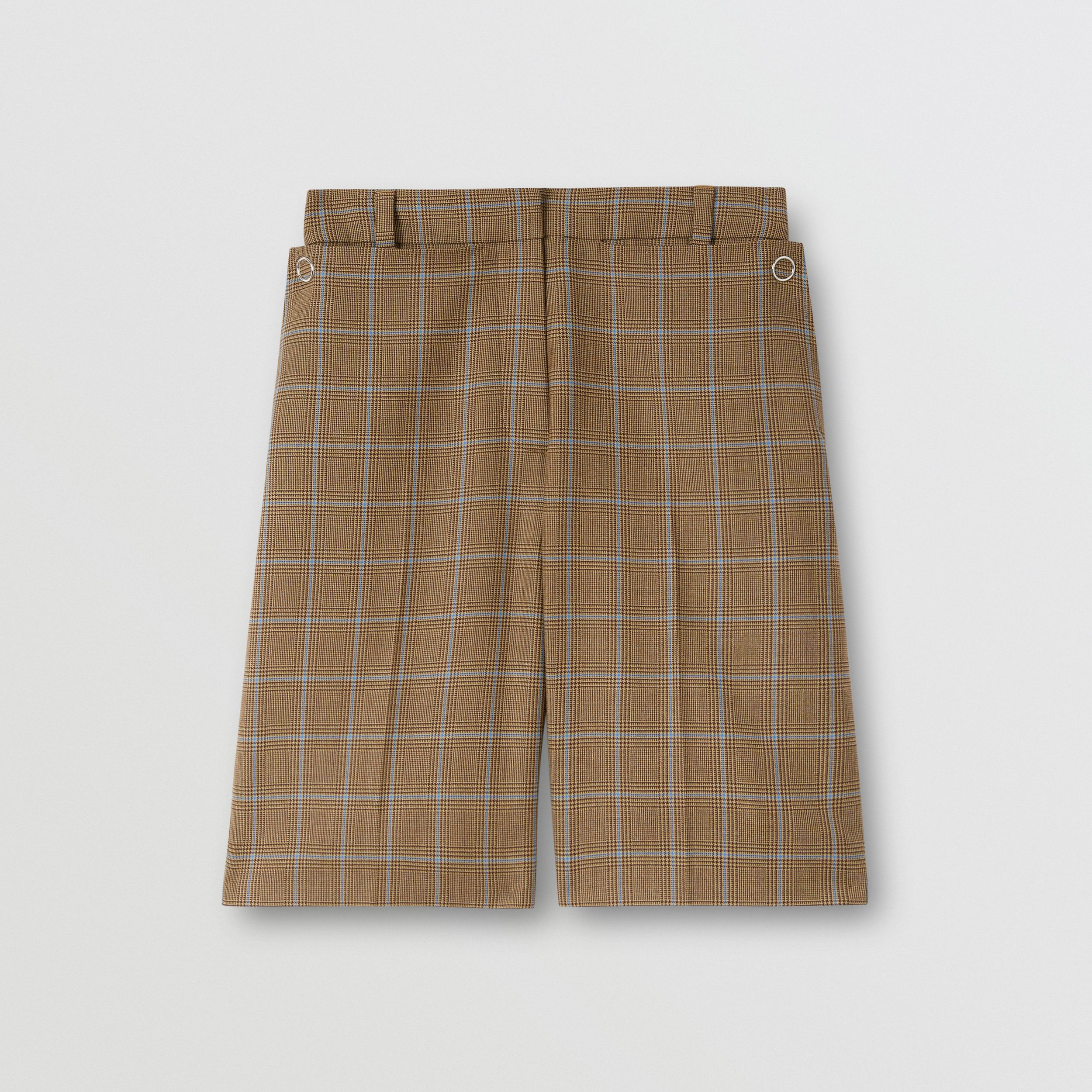 Pocket Detail Prince of Wales Check Wool Shorts in Birch Brown - Women | Burberry - 4