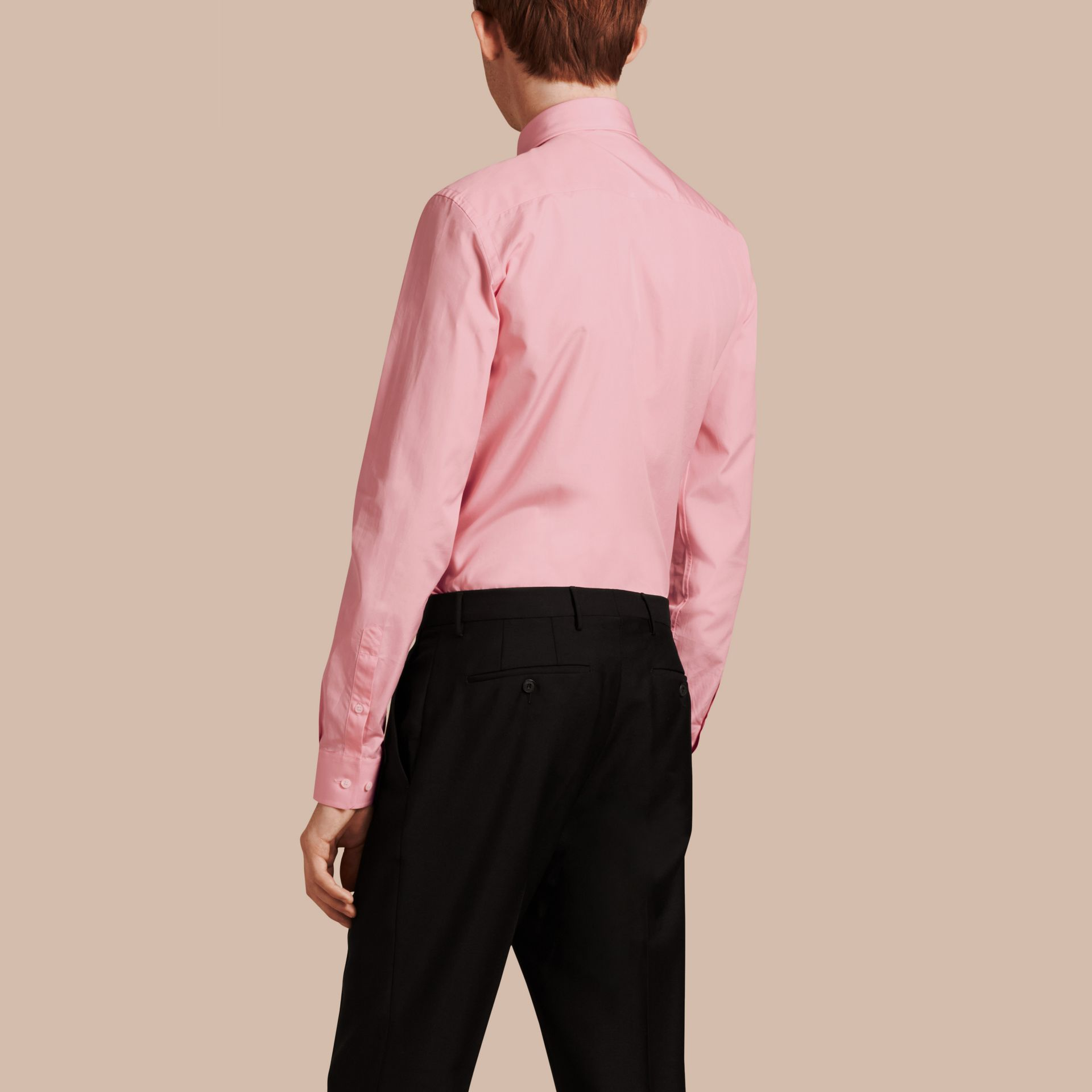 City pink Slim Fit Cotton Poplin Shirt City Pink - gallery image 3