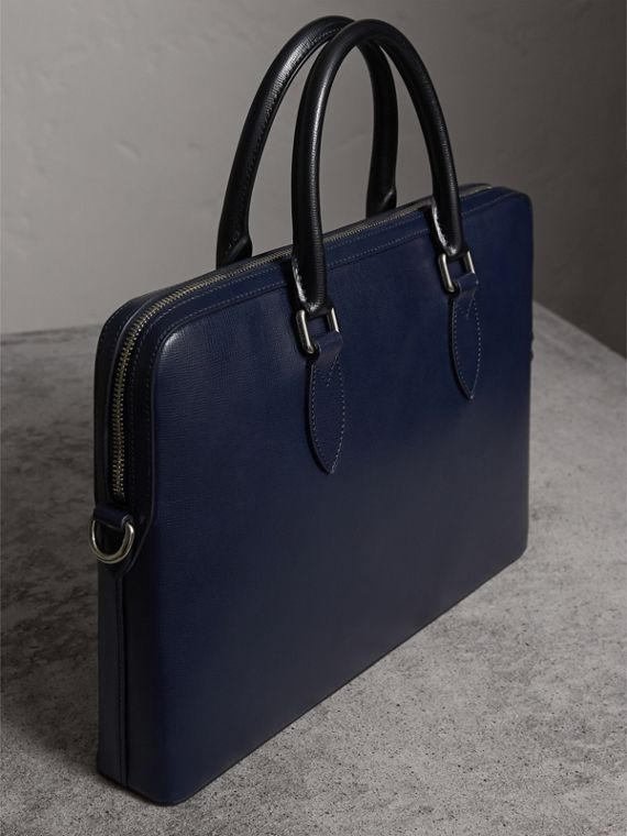The Slim Barrow in London Leather in Dark Navy/black - cell image 2