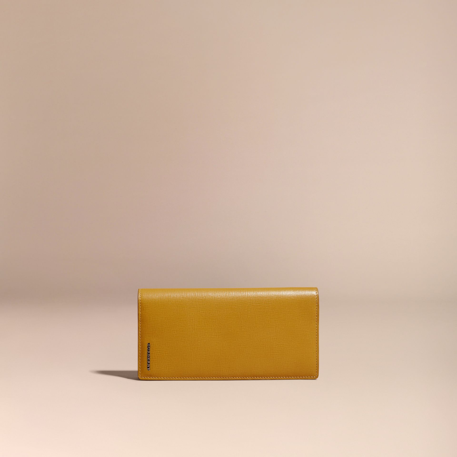 London Leather Continental Wallet Larch Yellow - gallery image 5