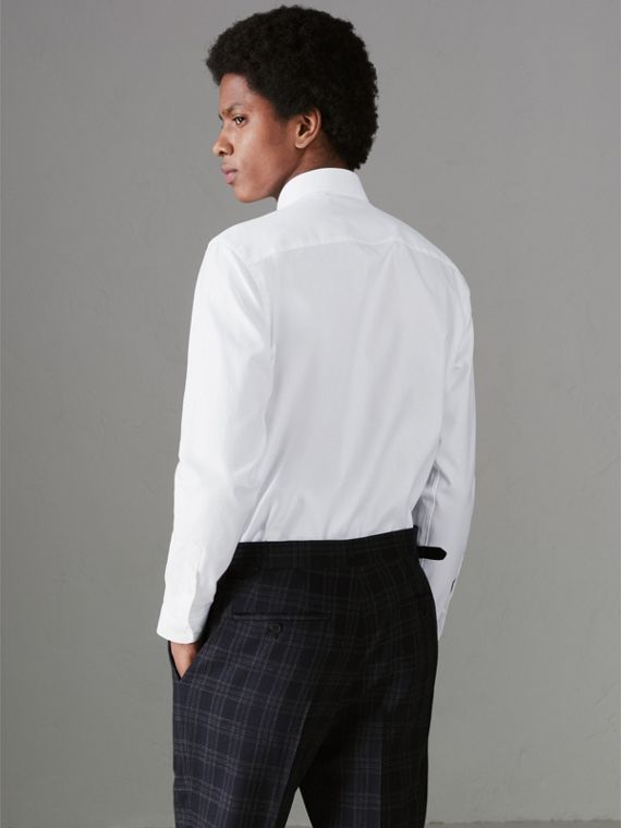 Modern Fit Cotton Shirt in White - Men | Burberry Canada - cell image 2