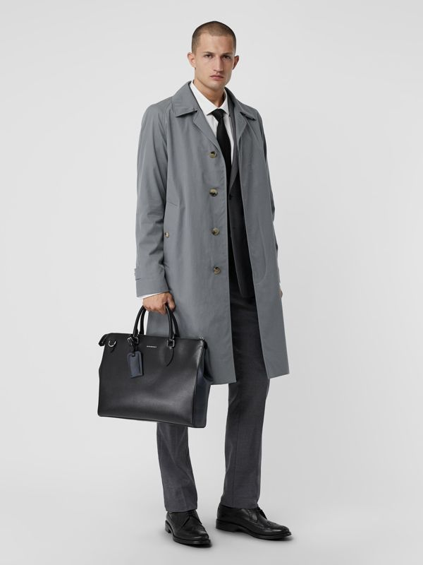 Large London Leather Briefcase in Black - Men | Burberry Australia - cell image 2