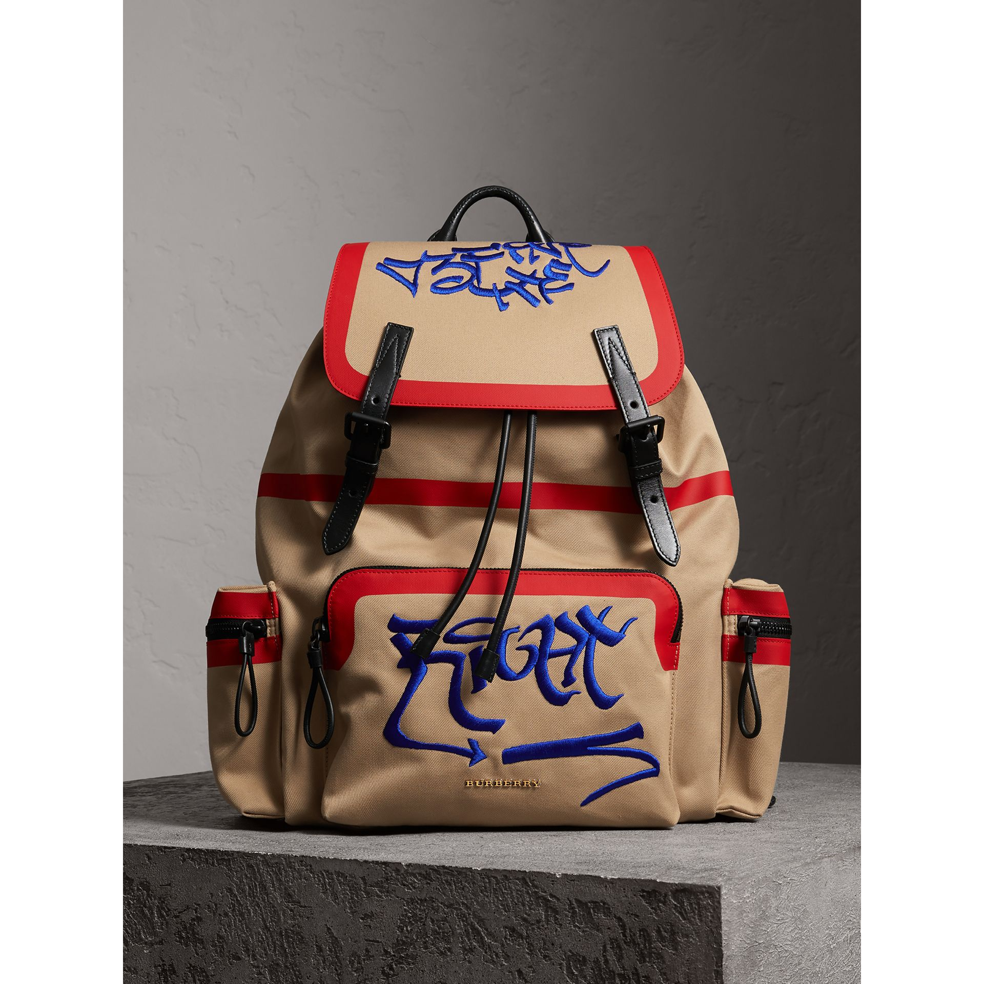 Burberry x Kris Wu The Extra Large Rucksack in Honey - Men | Burberry Australia - gallery image 6
