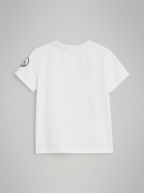 Hello Print Cotton T-shirt in White - Boy | Burberry - cell image 3