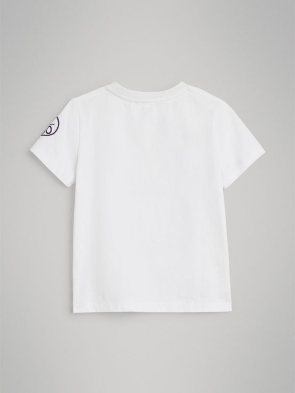 Hello Print Cotton T-shirt in White | Burberry United States - cell image 3