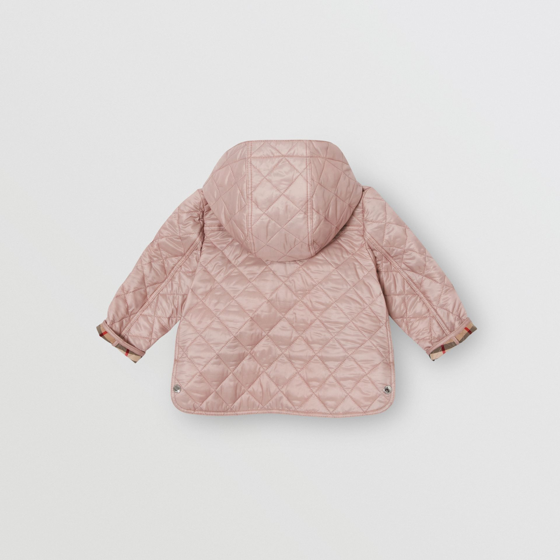 Detachable Hood Diamond Quilted Jacket in Ice Pink - Children | Burberry Australia - gallery image 3