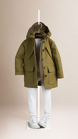 Cotton Parka with Detachable Hood
